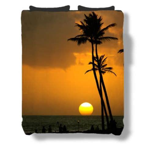 sunset bedding tropical sunset bedding