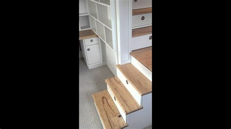 loft bed  stairs drawers closet  desk youtube