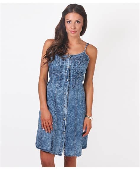 Dress Denim Y 172 denim dress strappy denim summer dress krisp