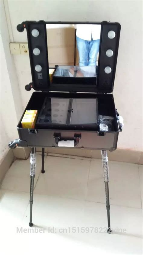 makeup station with lights professional makeup trolley with lights aluminum makeup