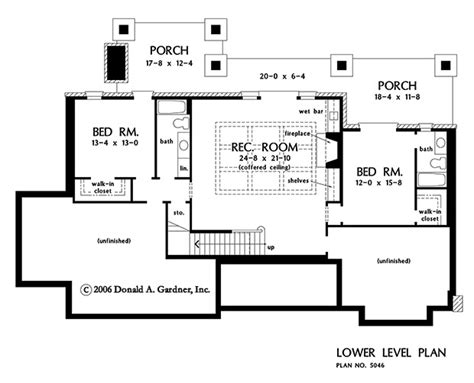 floor plan with basement house plan the asiago ridge by donald a gardner architects