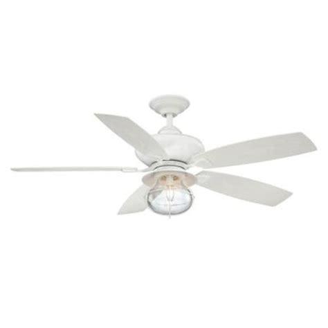 nautical outdoor ceiling fans hton bay sailwind ii 52 in indoor outdoor matte white
