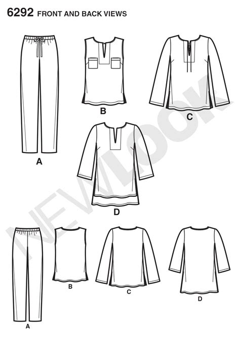 pattern review best of 2014 new look 6292 misses tunic or top and pull on pants
