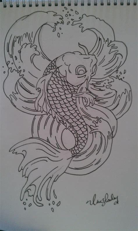 tattoo carpe koi noir et blanc koi carp tattoo design by chrisyrulz on newgrounds