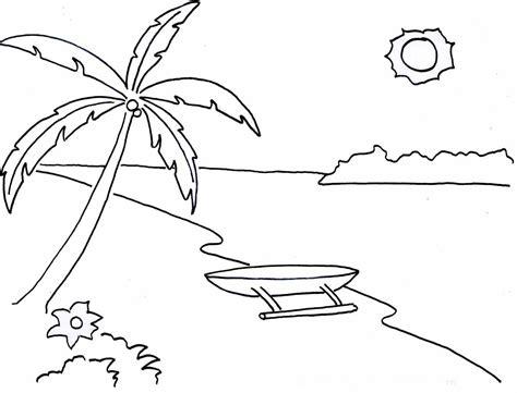 Coloring Mewarnai Pemandangan 10 mewarnai gambar pemandangan alam pantai bonikids