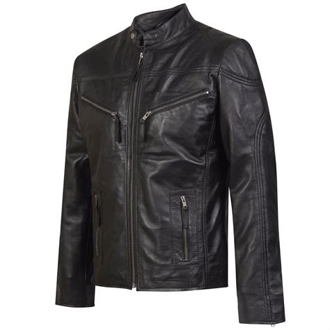 Jacket With Pockets by Black Leather Jacket With Zipper Pockets