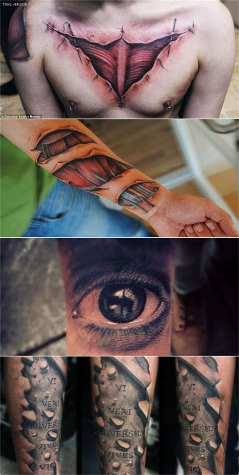 tattoo tidak haram 16 gambar tattoo yang sungguh realistik