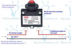 how to wire reset thermal protector electrical 4u