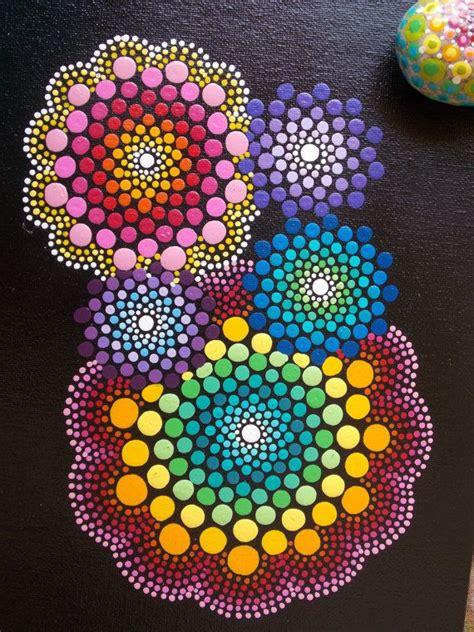 pattern match dot dot mandala painting and matching dot mandala stone