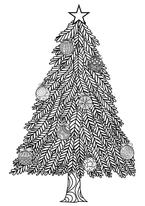 christmas tree coloring page for adults christmas coloring pages for adults coloring adult