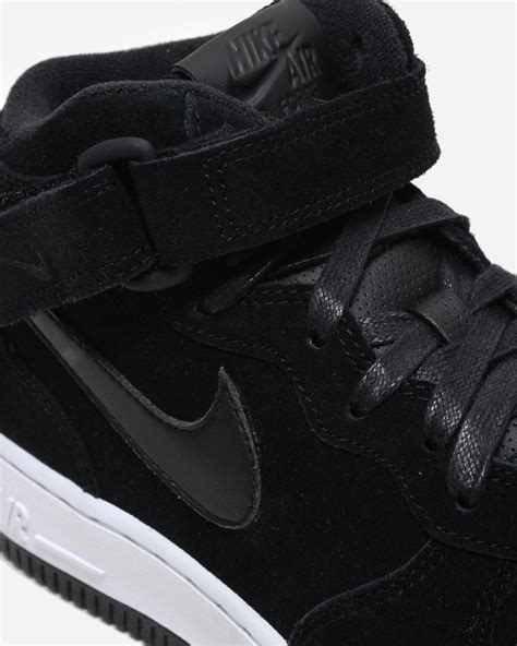 Nike Suede 1 nike air 1 mid black suede 818596 003 sneaker bar detroit