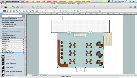 restaurant floor plan software caf 233 floor plan design software professional building