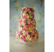 Wedding Cakes Pictures Colorful Sugar Roses Cake