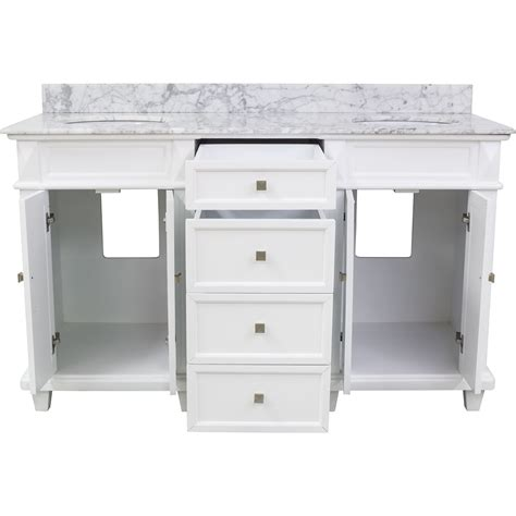 bathroom vanity hardware hardware resources shop van094d 60 t mw vanity white