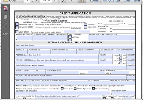 Vfh Re Credit Application Form Collect Credit Applications With Formstack Webmerge