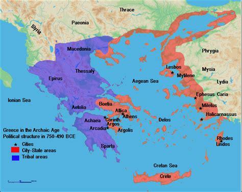 map of archaic greece map of archaic greece illustration ancient history