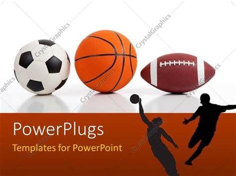 sports templates powerpoint template sports equipment on white including a
