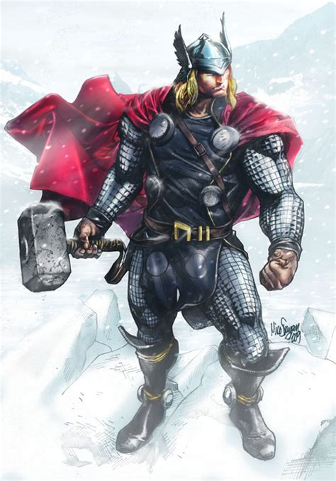 thor colors comics forever the mighty thor artwork by mico suayan