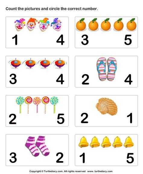 worksheets for pre k numbers color sheet