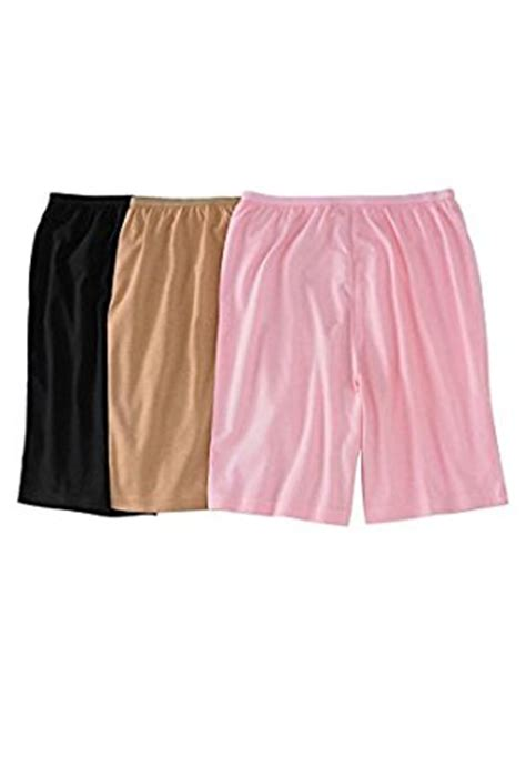 comfort choice comfort choice women s plus size 3 pack cotton boxer