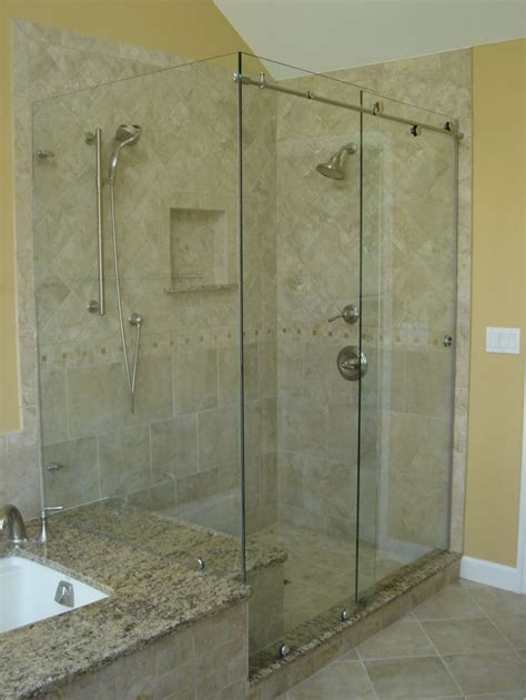 bathroom glass sliding shower doors best 25 frameless sliding shower doors ideas on