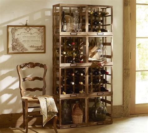 modular wine storage eclectic wine racks by pottery barn