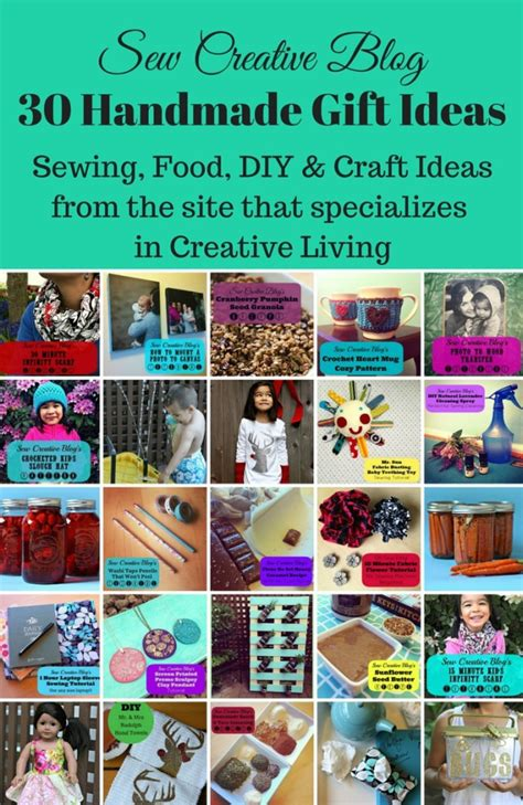 Handmade Craft Site - 30 handmade gift ideas sewing food diy craft ideas
