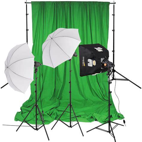 budget green screen lighting impact 3 light green screen kit ql300 3ki b h photo video