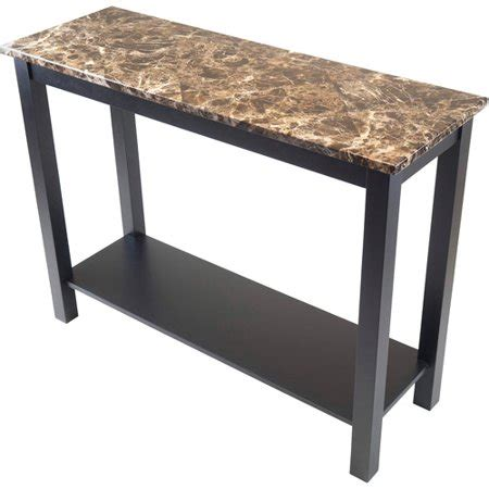 faux marble sofa table torri console table with faux marble black walmart