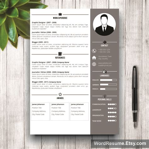resume design template professional resume template design quot jeff t chafin