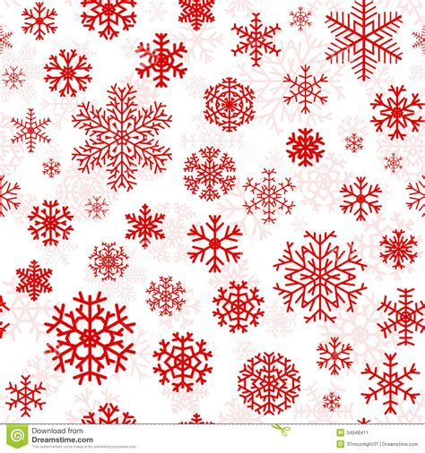 christmas pattern red and white christmas seamless pattern from snowflakes stock vector