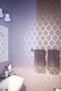 Bathroom stencil on pinterest bathroom wall stenciling