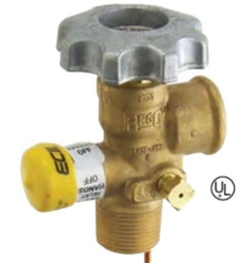 rego 100 lb cylinder valve with dip tube