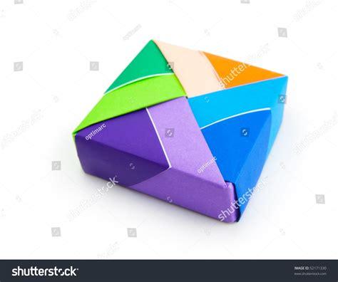 Colorful Origami - colorful origami box stock photo 52171330