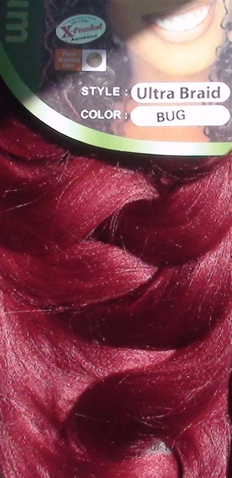 xpression burgundy x pression 174 ultra braid color bug afro cosmetic shop