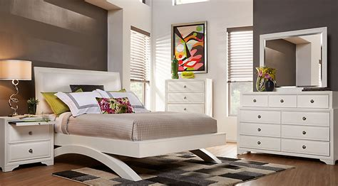 white king bedroom sets belcourt white 7 pc king platform bedroom king bedroom
