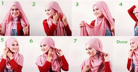 gambar tutorial berhijab yang simpel mencoba berjilbab gambar step by step tutorial jilbab