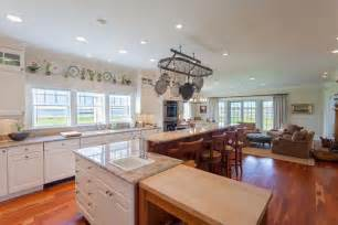Open Floor Plan Kitchen Family Room A 59 Million Nantucket Summer Home Is For Sale Business