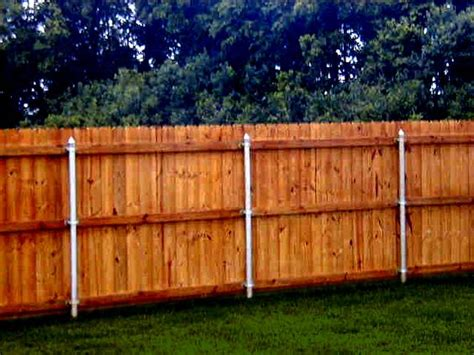 wood and metal fence metal posts wood fence great way to secure it and make
