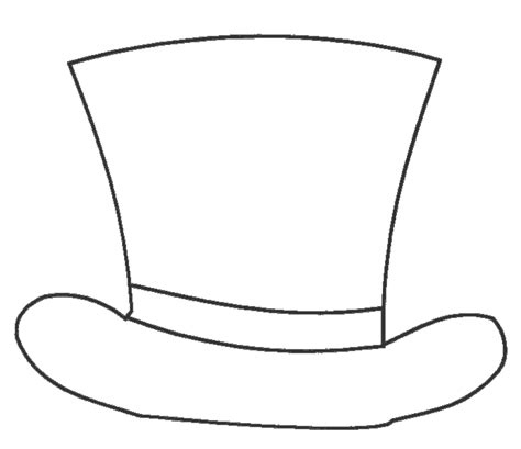 mad hatter top hat coloring pages