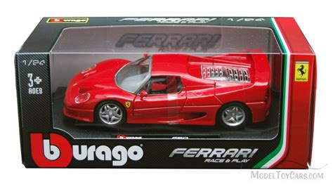 toy ferrari model cars f50 race hard top red bburago 26010 1 24 scale