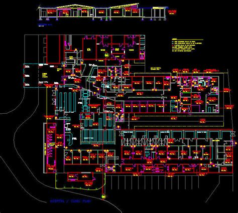 hospital laundry layout plan cad dwg cad building template hospital clinic 2