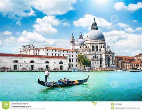 della canai scenic postcard view of venice italy stock photo image