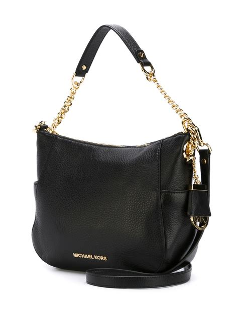 lyst michael michael kors chandler shoulder bag  black