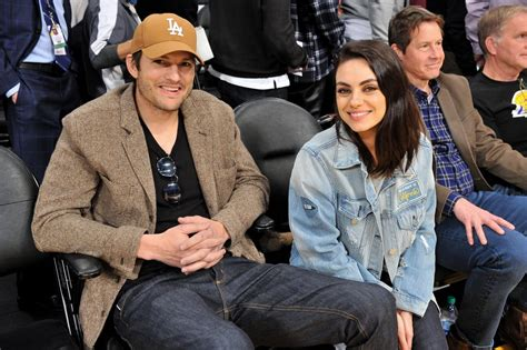 celebrity game shows 2019 ashton kutcher and mila kunis at lakers game january 2019