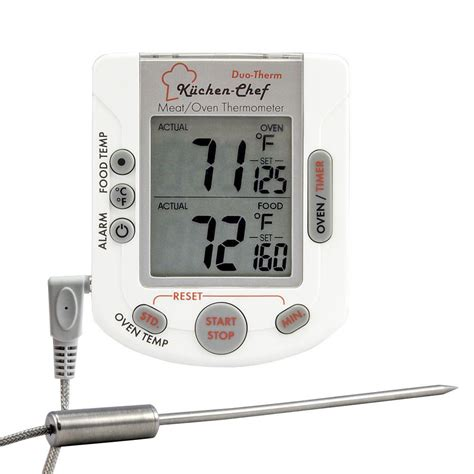 Thermometer Digital Makanan Digital Food Thermometer tfa digital oven and thermometer with timer and stopwatch 14 1503 the home depot