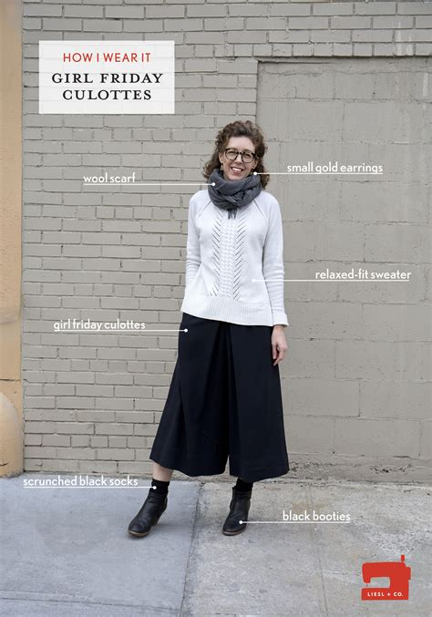 how a woman should dress on a friday night at fifty how i wear it liesl s girl friday culottes blog