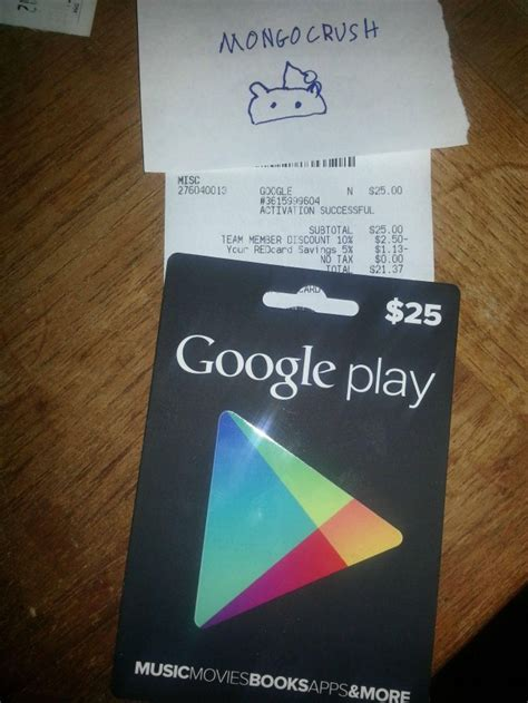 Google Play Gift Card Sale - google play gift cards found at target radio shack will also have them on sale