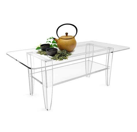 all clear coffee table plexiglass frame glass tops 14695