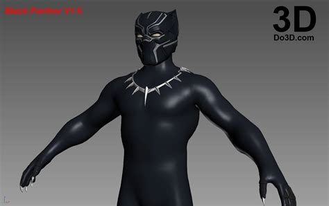 3d Model Black Panther 3d printable model black panther helmet v2 8 civil war